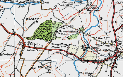 Old map of Bascote Heath in 1919