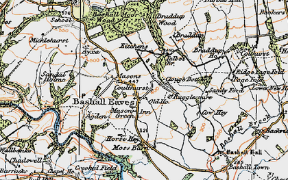 Old map of Bashall Eaves in 1924