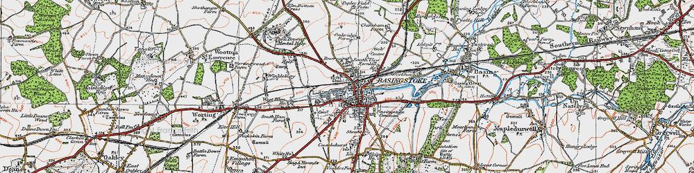 Old map of Basingstoke in 1919