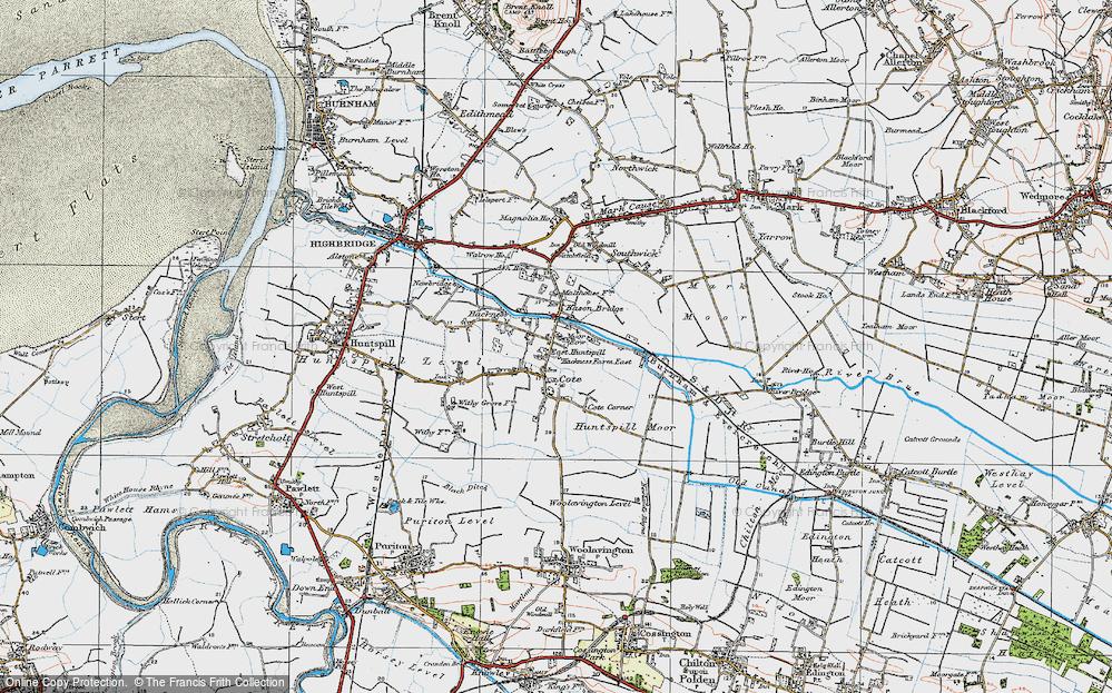 Old Map of Bason Bridge, 1919 in 1919