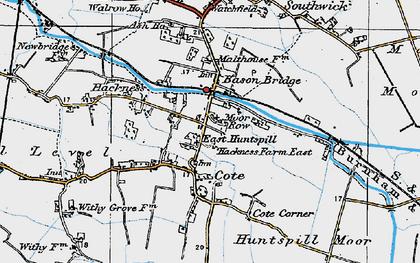 Old map of Bason Bridge in 1919