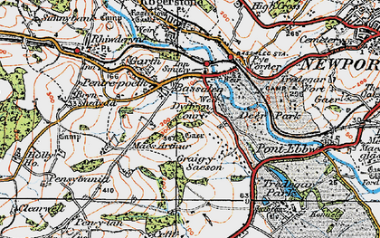Old map of Bassaleg in 1919
