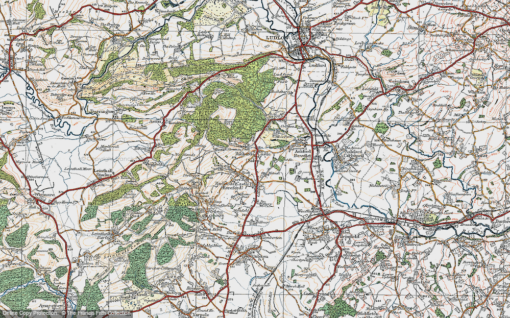 Old Map of Historic Map covering Woodcroft in 1920