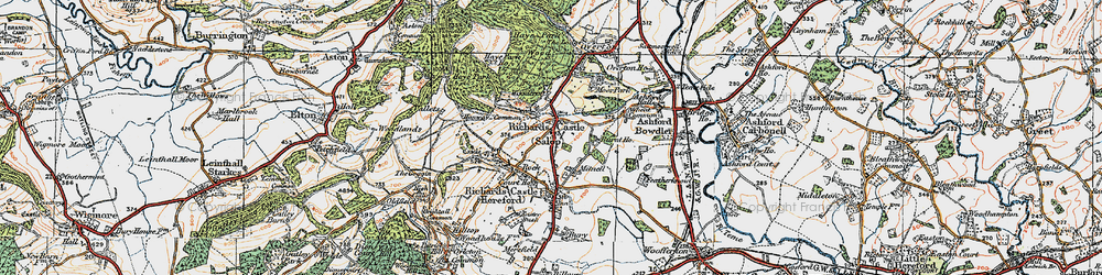 Old map of Woodcroft in 1920