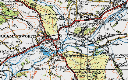 Old map of Batchworth in 1920