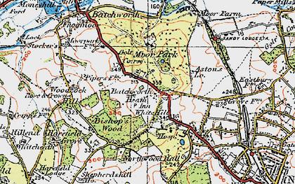 Old map of Batchworth Heath in 1920