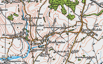 Old map of Batcombe in 1919