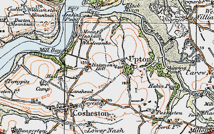 Old map of Bateman's Hill in 1922