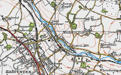 Old map of Batford in 1920