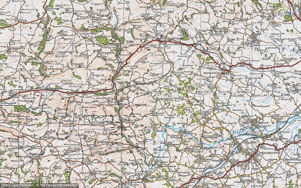 Old Map of Bathealton, 1919 in 1919