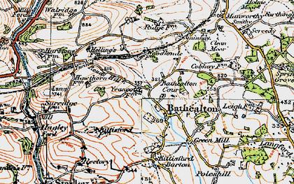 Old map of Bathealton in 1919