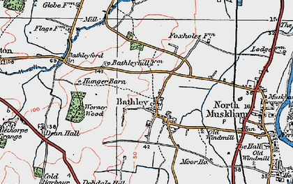 Old map of Worner Wood in 1923