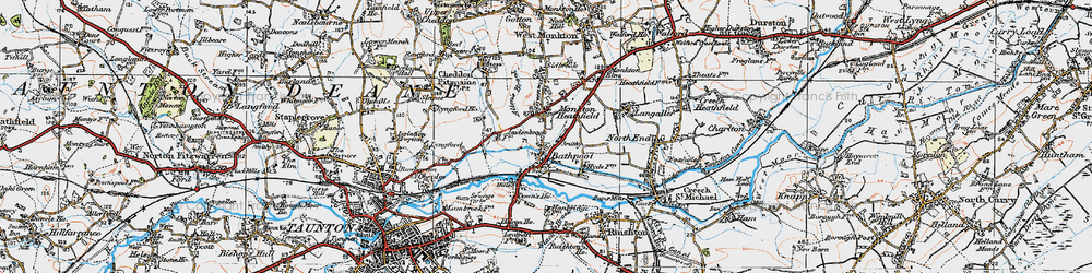 Old map of Bathpool in 1919