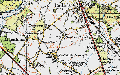 Old map of Batlers Green in 1920