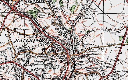 Old map of Batley in 1925