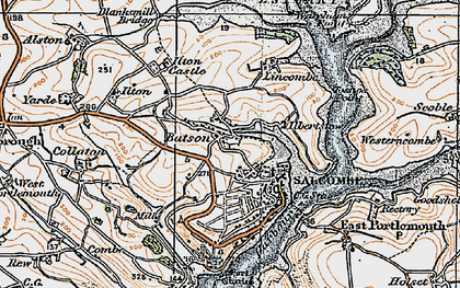 Old map of Batson in 1919