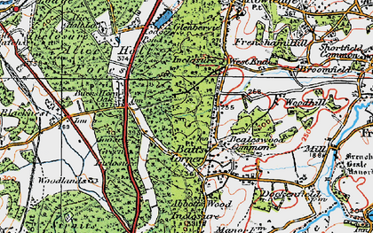 Old map of Willow's Green Inclosure in 1919