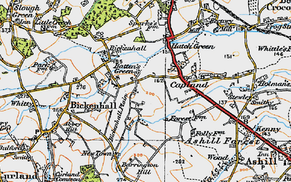 Old map of Batten's Green in 1919