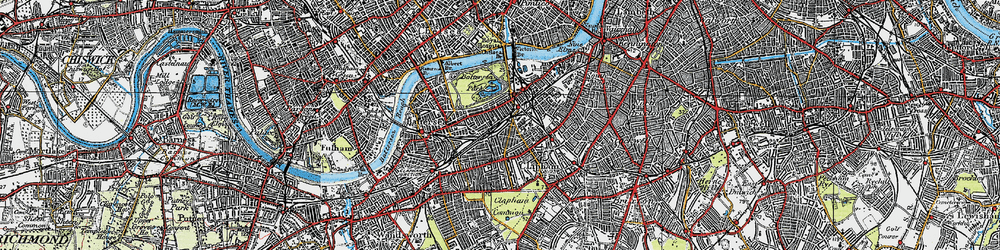 Old map of Battersea in 1920