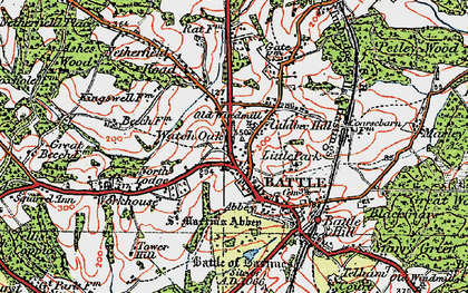 Old map of Battle in 1921