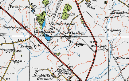 Old map of Battlesden in 1919