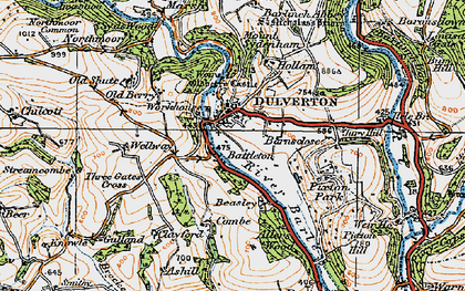 Old map of Wilway in 1919