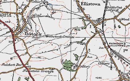 Old map of Battram in 1921