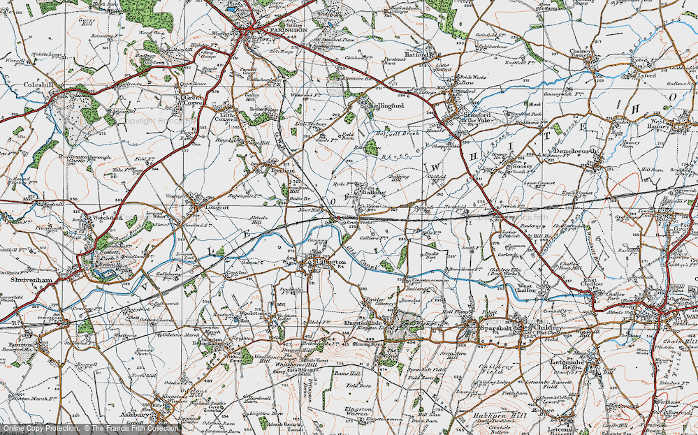 Old Map of Baulking, 1919 in 1919