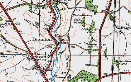 Old map of Wiggold in 1919
