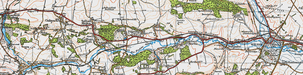 Old map of Baverstock in 1919