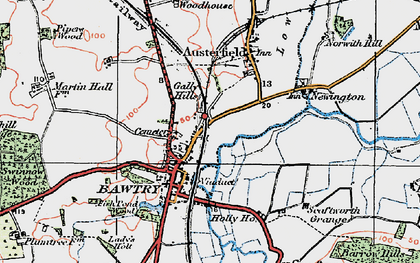 Old map of Bawtry in 1923