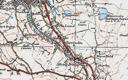 Old map of Baxenden in 1924