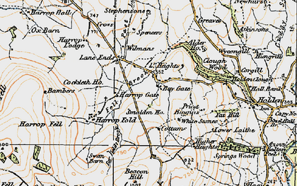 Old map of Bambers in 1924