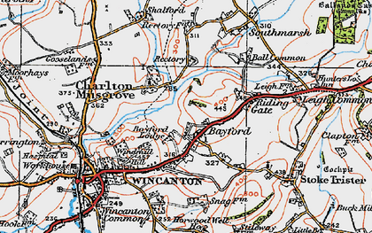 Old map of Bayford in 1919