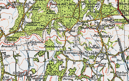 Old map of Wickhurst Manor in 1920