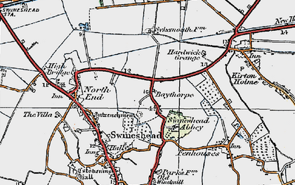 Old map of Baythorpe in 1922