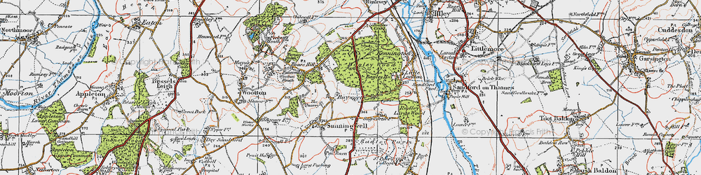 Old map of Bayworth in 1919