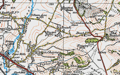 Old map of Beach in 1919