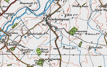 Old map of Beachampton in 1919