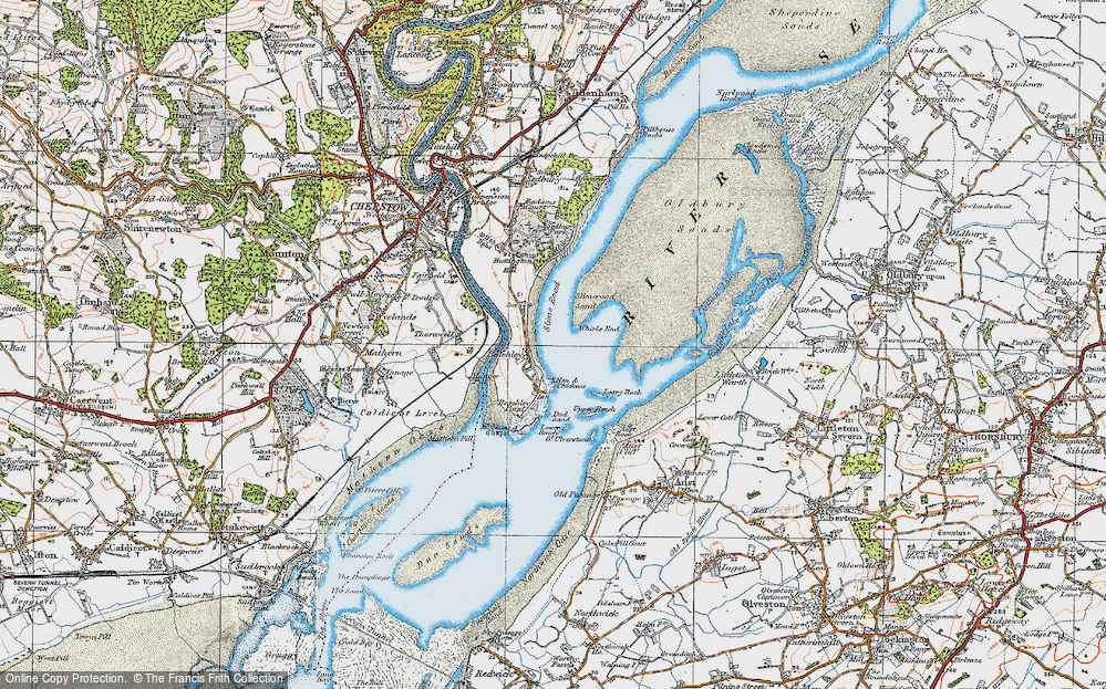 Old Map of Historic Map covering Whirls End in 1919