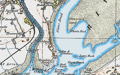 Old map of Whirls End in 1919