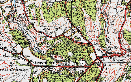 Old map of Beacon Hill in 1919