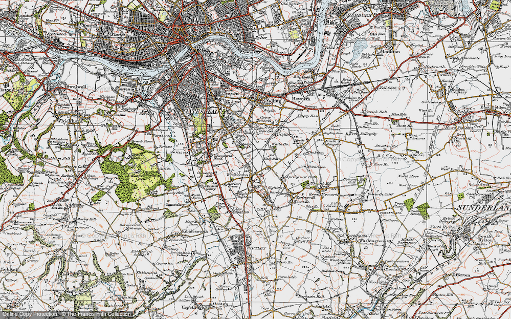 Old Map of Beacon Lough, 1925 in 1925