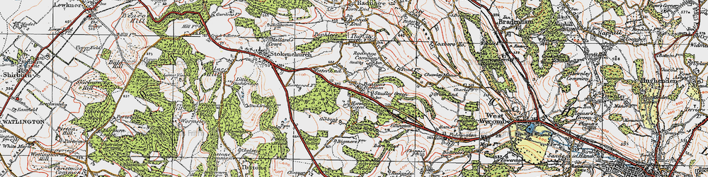 Old map of Wycliffe Centre in 1919
