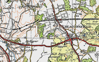 Old map of Beaconsfield in 1920