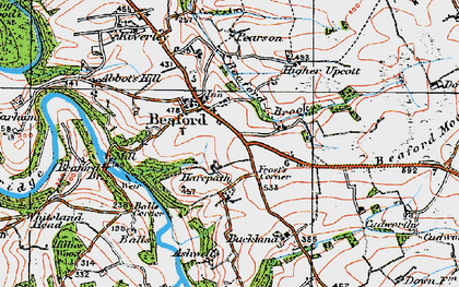 Old map of Ashwell in 1919