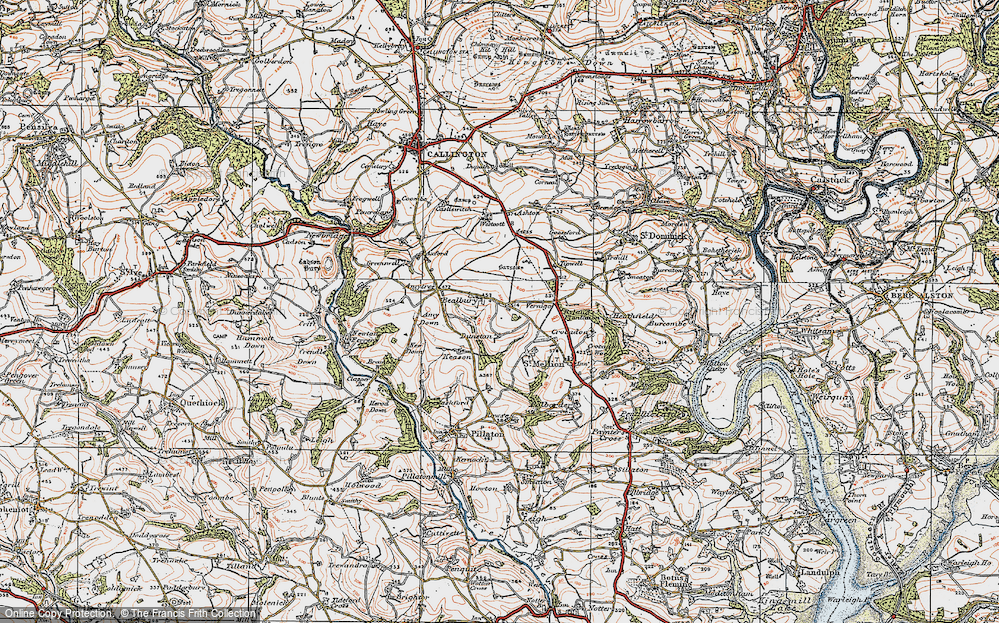 Old Map of Historic Map covering Axford in 1919
