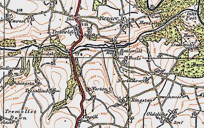 Old map of Wooda Bridge in 1919