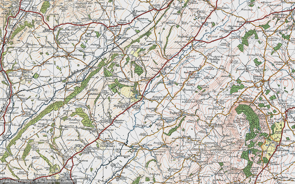 Old Map of Historic Map covering Balaam's Heath in 1921