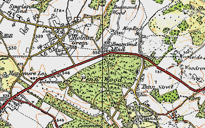 Old map of Beamond End in 1920